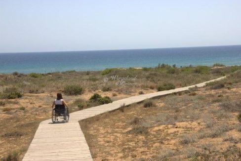 rullestolvennlig til stranden