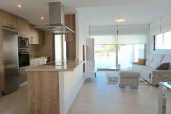 kjøkkenøy og stue