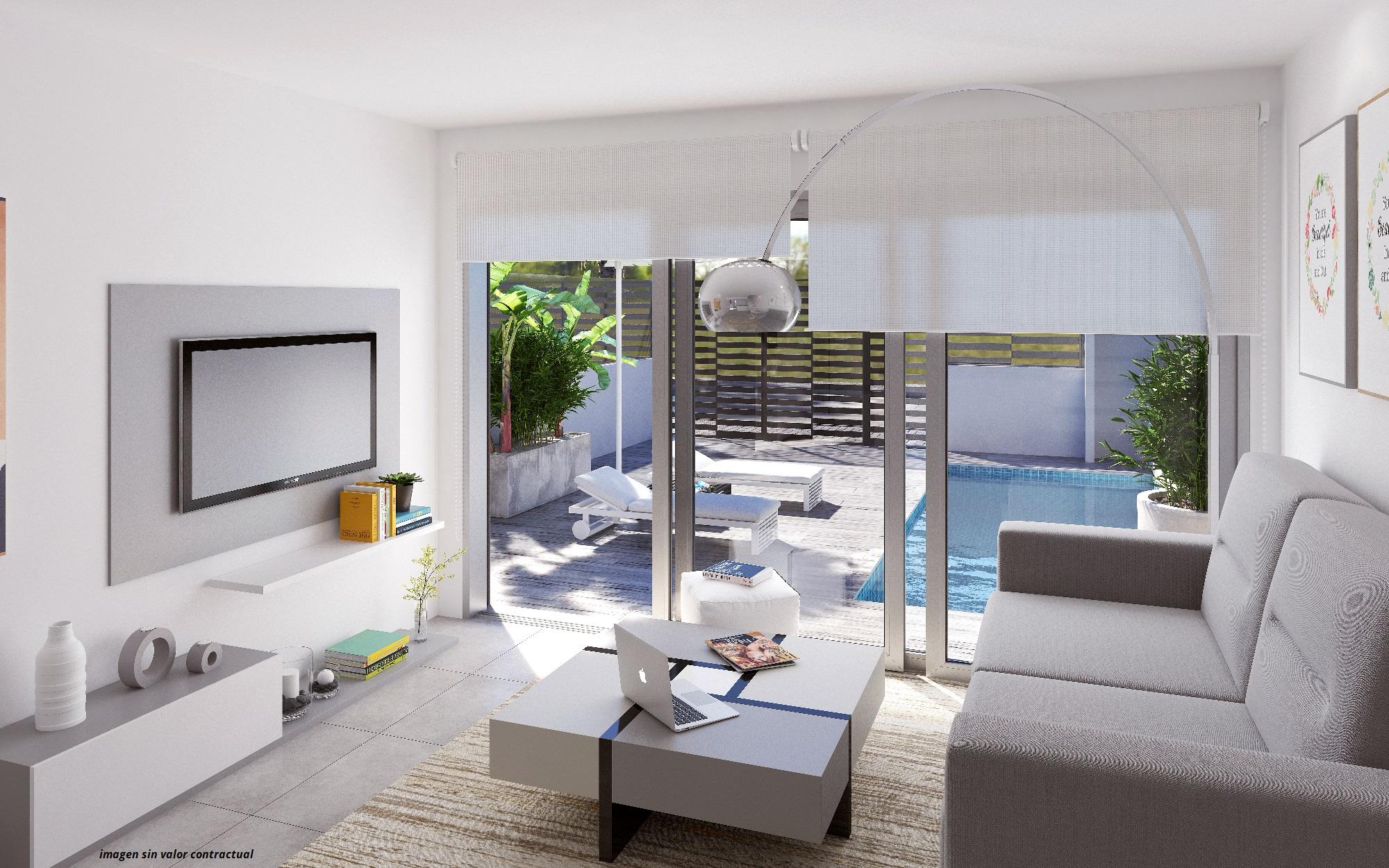 Sørvendt villa med 3 soverom og 3 bad på Hjørnetomt. Privat basseng og takterrasse. Gangavstand til Middelhavet [VTM7]