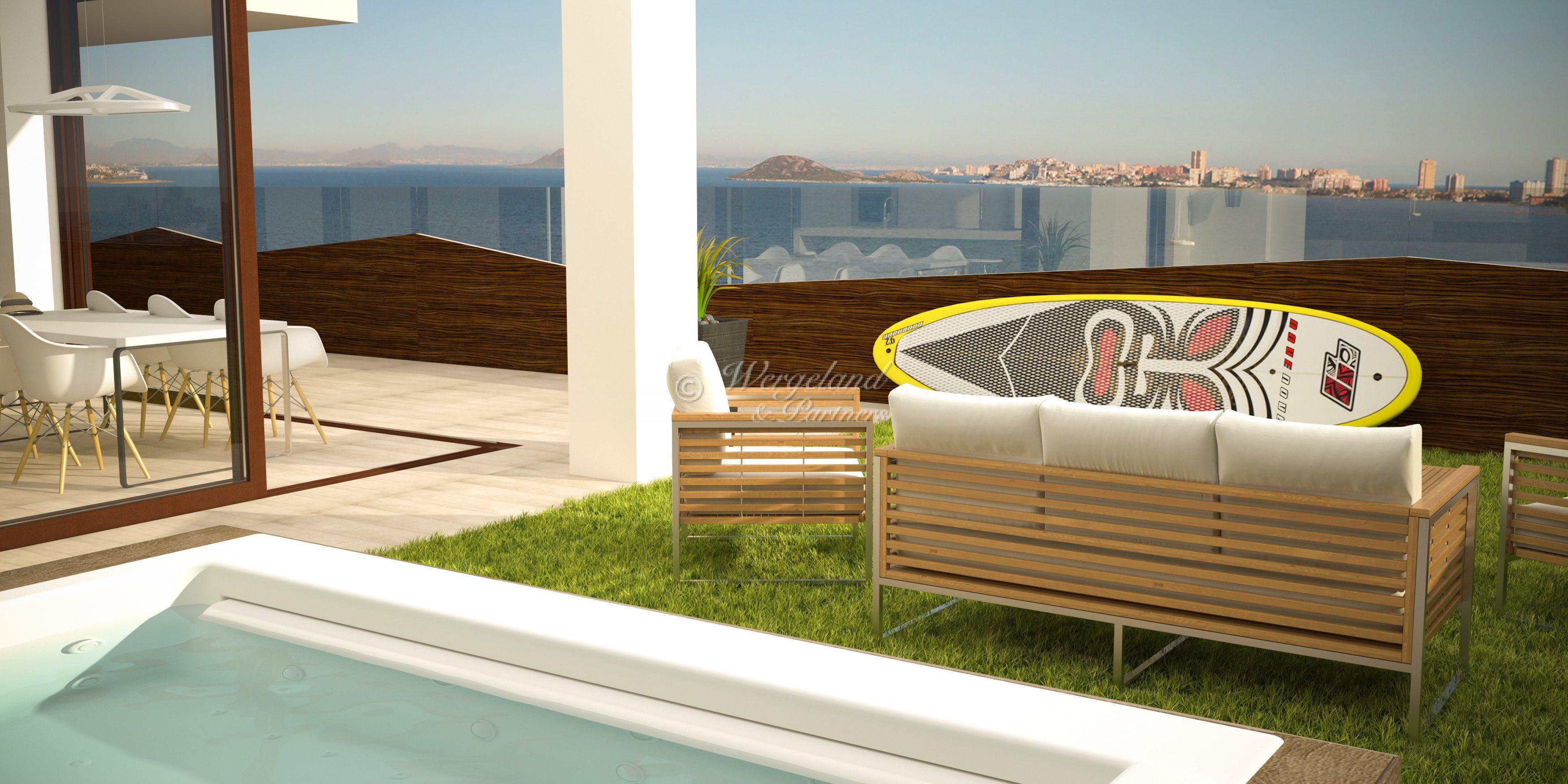 Spektakulær 4-roms Penthouse i 8 etg. 75 m2 terrasse med Jacuzzi [LF7CI]