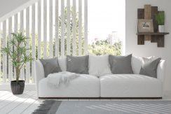 Grå Puter Og Sofa