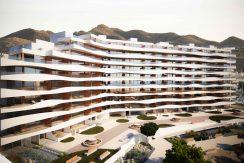 Los Flamencos Front Hele Bygningen Og Fjell Bak