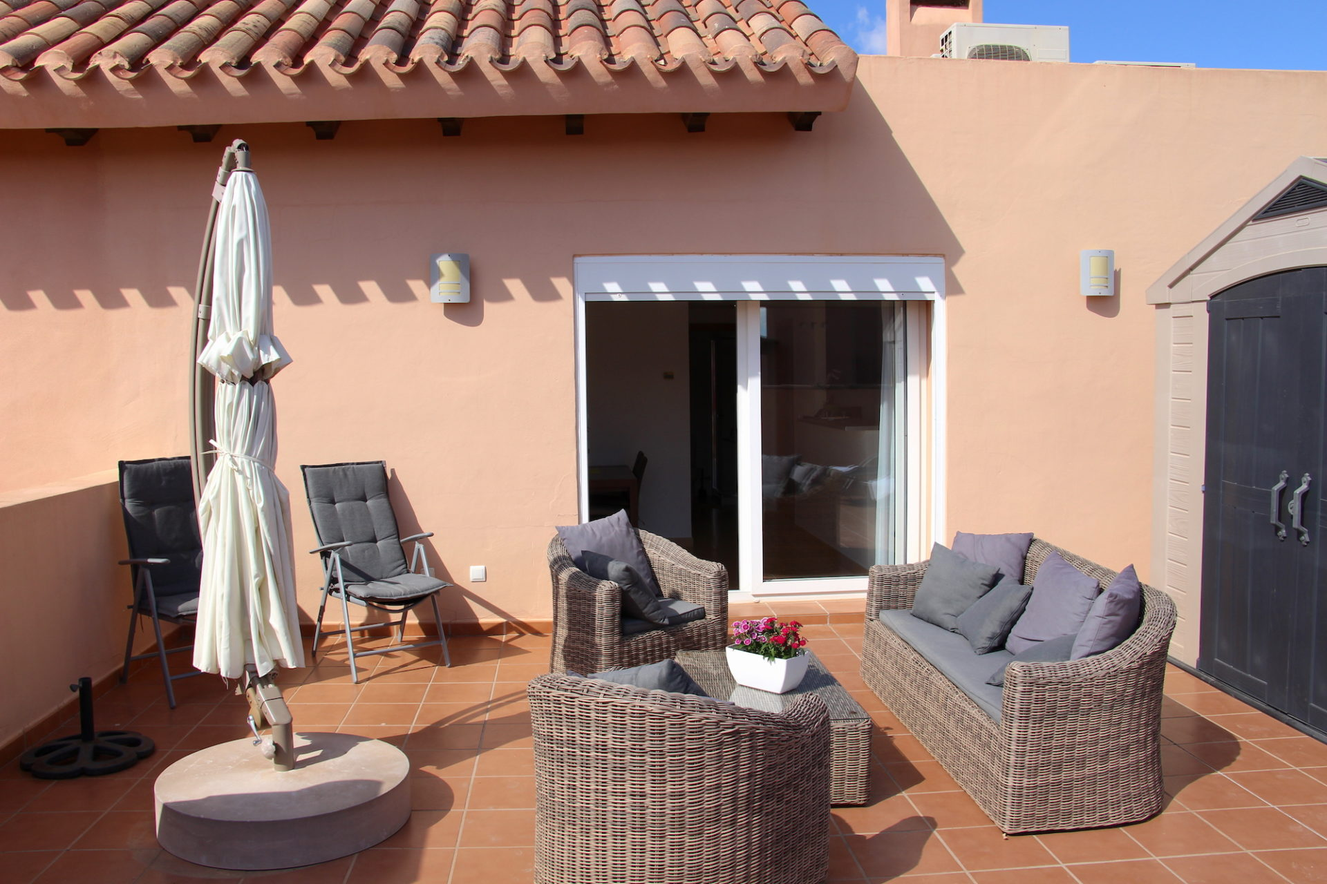 1.line golf. Fully furnished Penthouse. 78 m2 terraces with sun from morning to evening [1332]