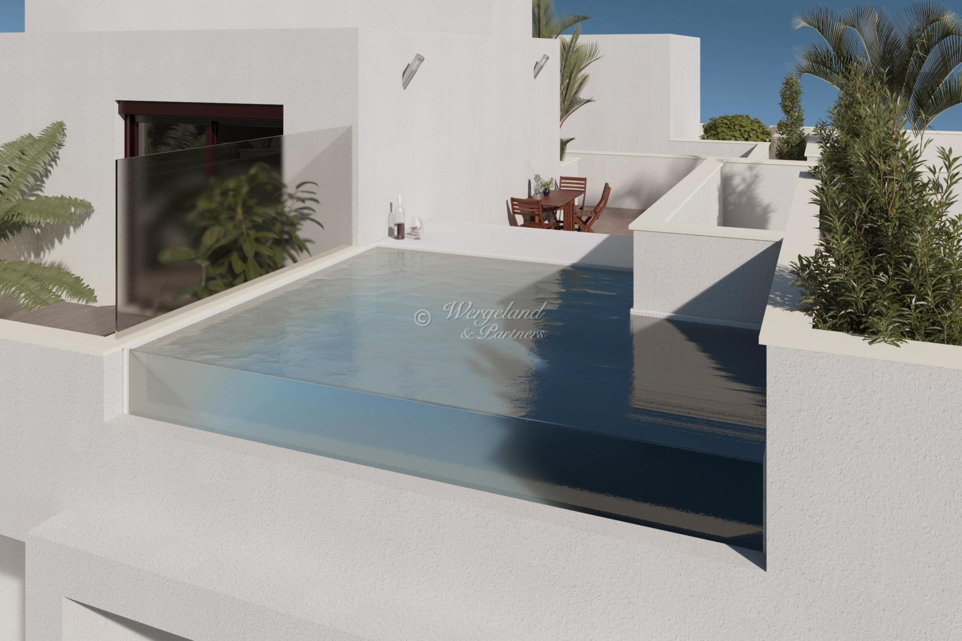 3 Bedroom Townhouse with beach location and shared pool on the roof terrace [PMVI]
