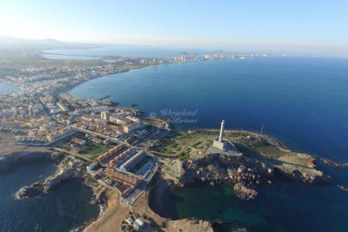 Dronebilde Cabo fyrtårn