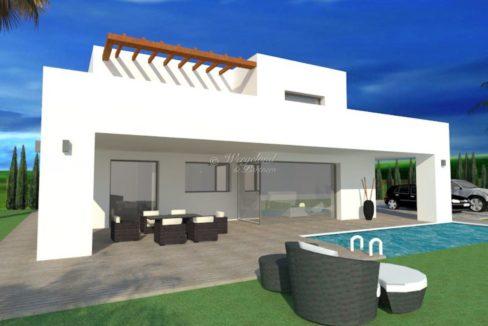 illustrasjon villa hvit