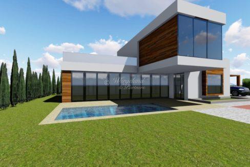 Illustrasjon villa Moderne