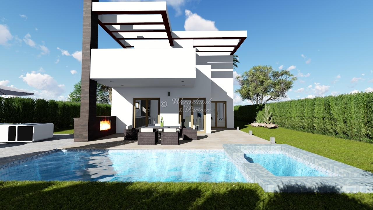 Lys og moderne villa i hjertet av resorten til attraktiv pris og tilpasningsmuligheter [LMC4A]