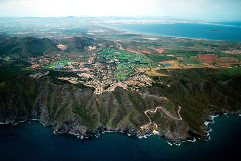 La Manga Club flyfoto fra Middelhavet