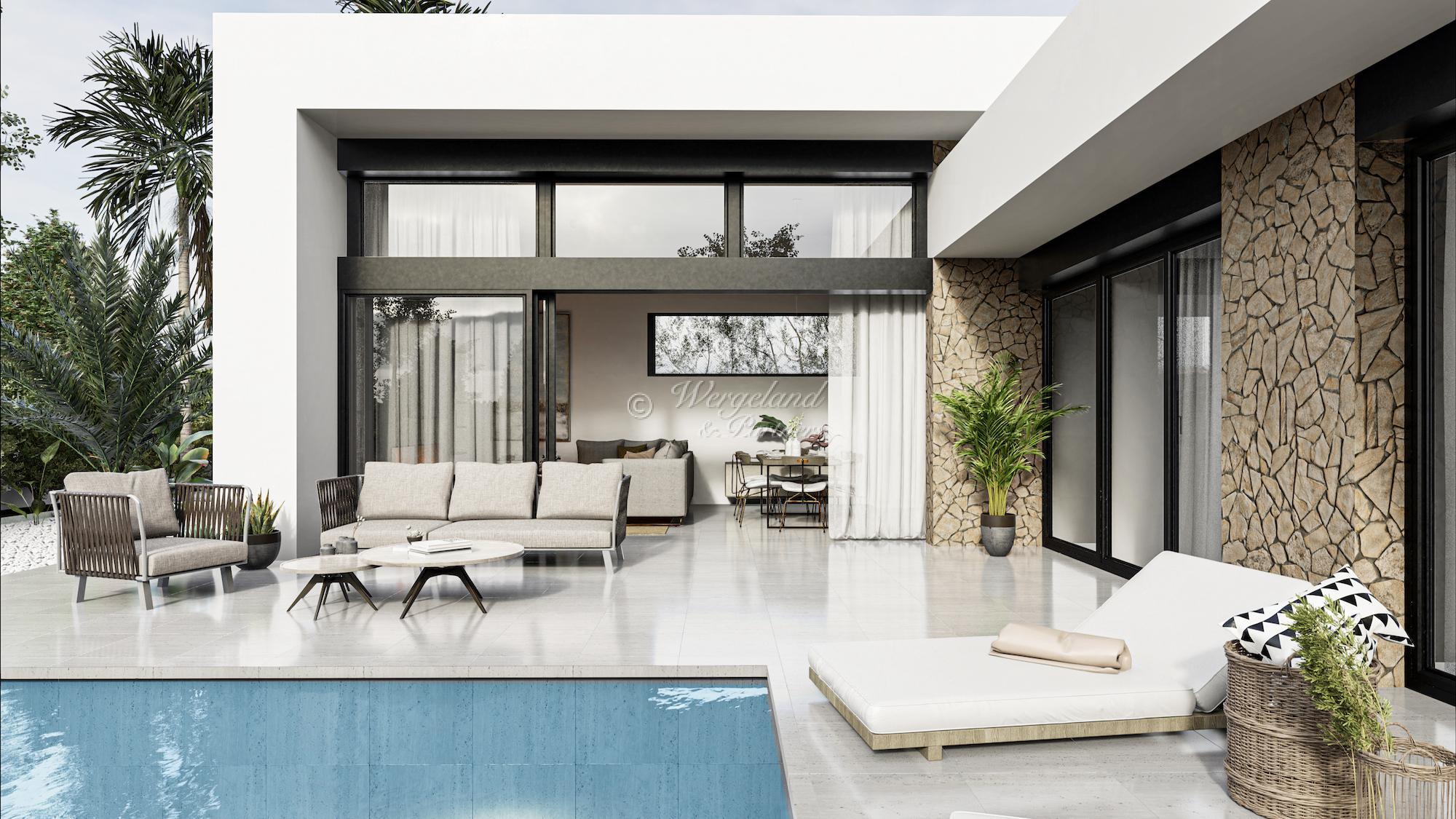 4 Soveroms arkitekttegnet villa etter dine ønsker med takterrasse og basseng [LMC5]